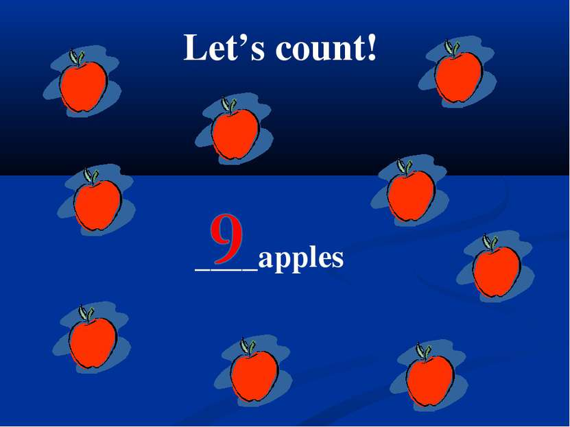 Let's count! ____apples