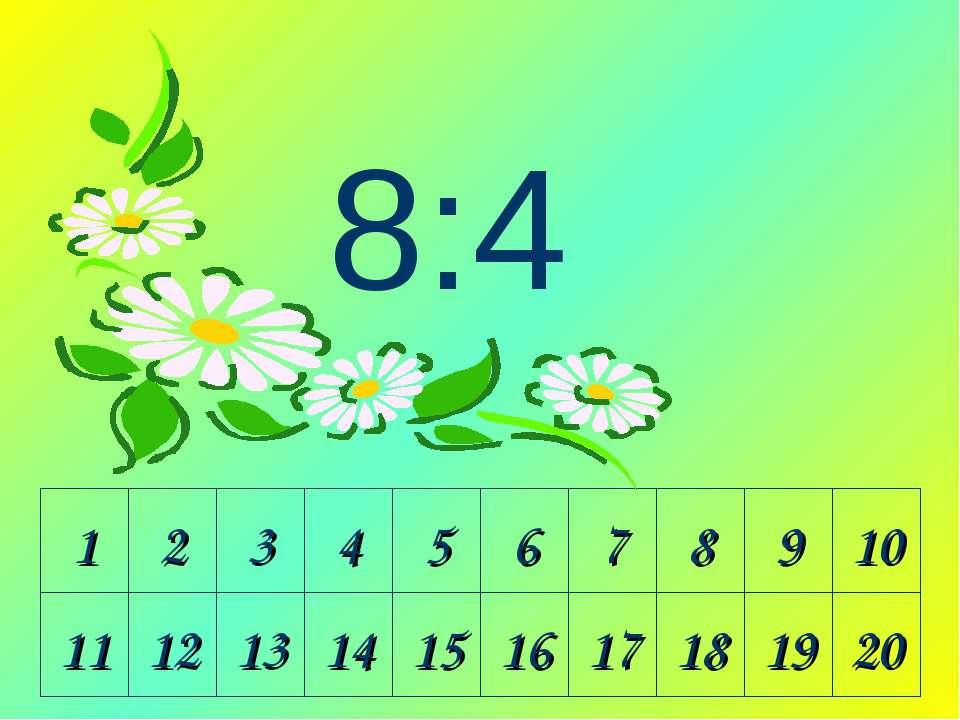 1 2 3 4 5 6 7 8 9 10 11 12 13 14 15 16 17 18 19 20 8:4