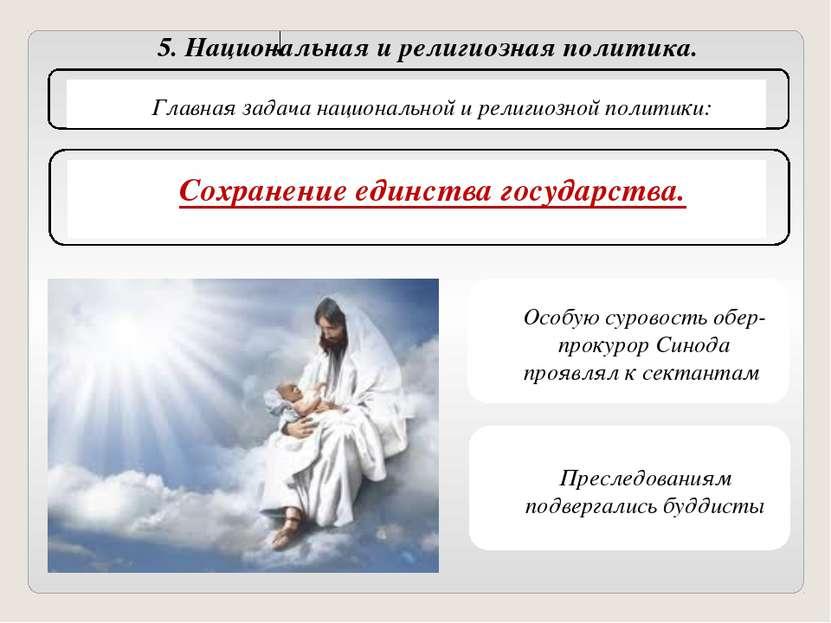 5. Национальная и религиозная политика. Главная задача национальной и религио...