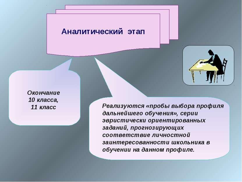 Аналитический этап