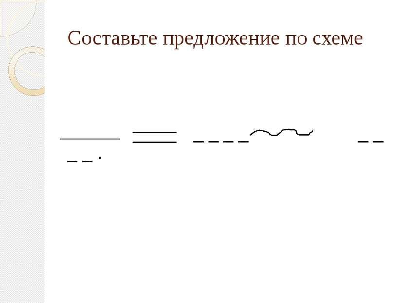 Составьте предложение по схеме _ _ _ _ _ _ _ _ .