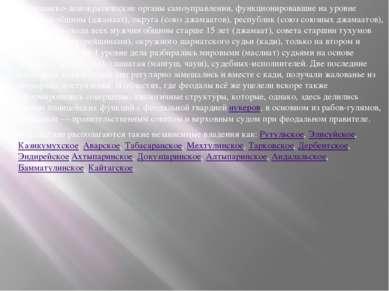Гражданско-демократические органы самоуправления, функционировавшие на уровне...