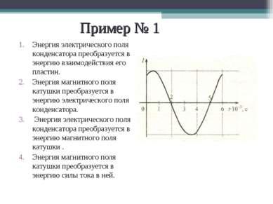 Пример № 1 Энергия электрического поля конденсатора преобразуется в энергию в...