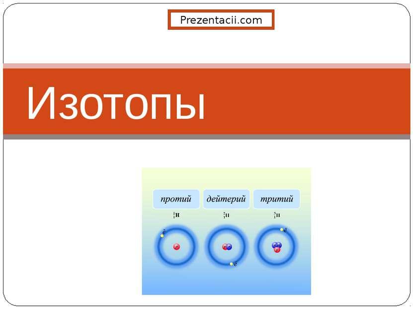 Изотопы Prezentacii.com