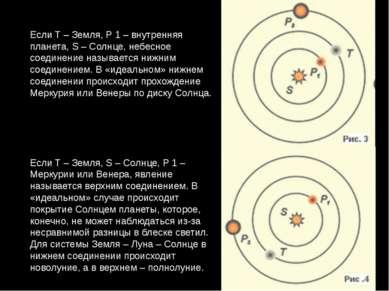 Если T – Земля, P 1 – внутренняя планета, S – Солнце, небесное соединение наз...