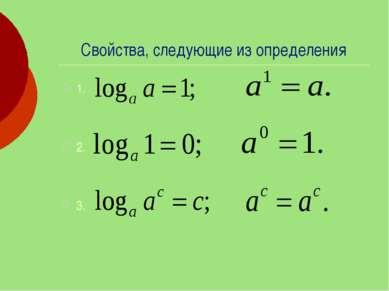 Свойства, следующие из определения 1. 2. 3.