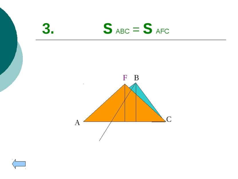 3. S ABC = S AFC A B C F