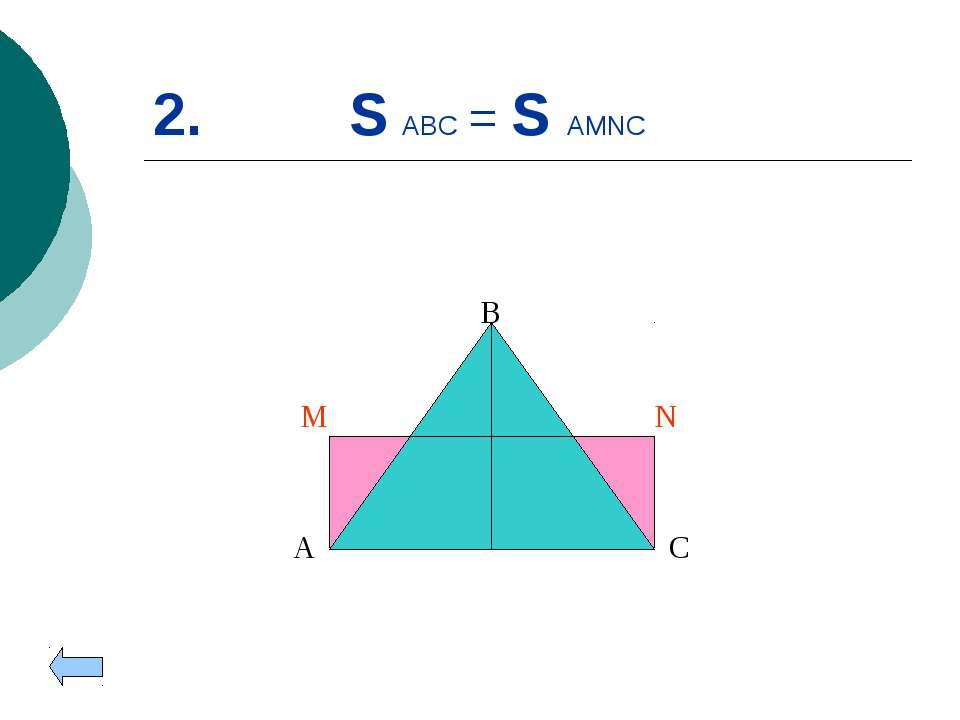 2. S ABC = S AMNC A B C M N