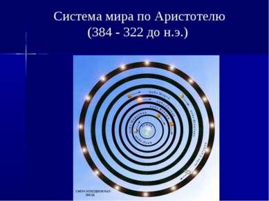 Система мира по Аристотелю (384 - 322 до н.э.)