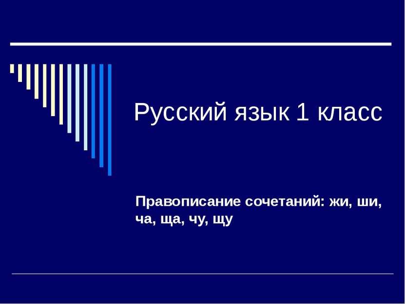 Русский язык 1 класс Правописание сочетаний: жи, ши, ча, ща, чу, щу