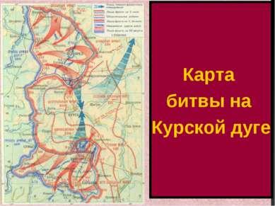 Карта битвы на Курской дуге
