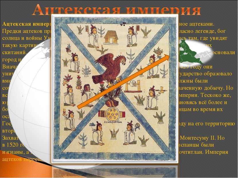 Ацтекская империя— государство вЦентральной Америке, созданноеацтеками. Пр...
