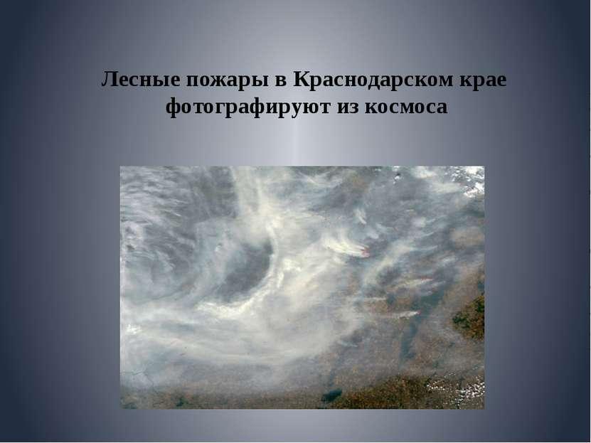 Лесные пожары в Краснодарском крае фотографируют из космоса