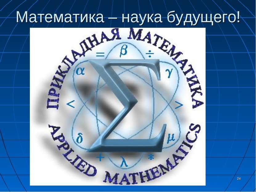 Математика – наука будущего! *