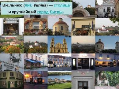 Ви льнюс (лит. Vilnius)— столица и крупнейший город Литвы.