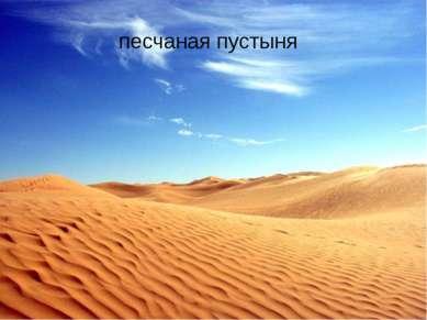 Песчаная пустыня песчаная пустыня