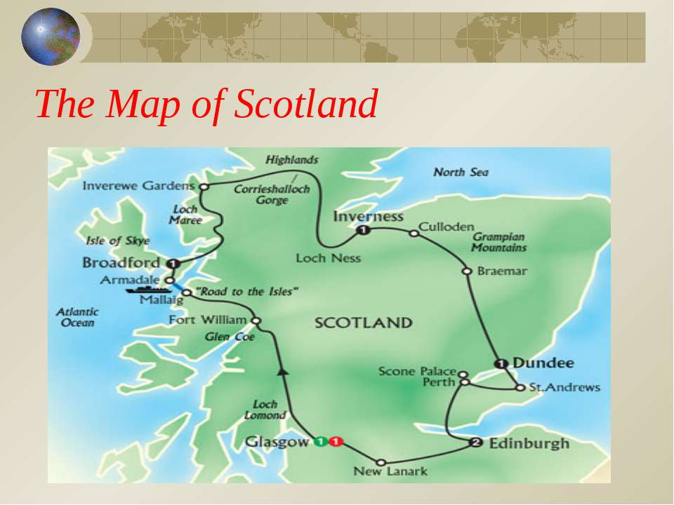 The Map of Scotland