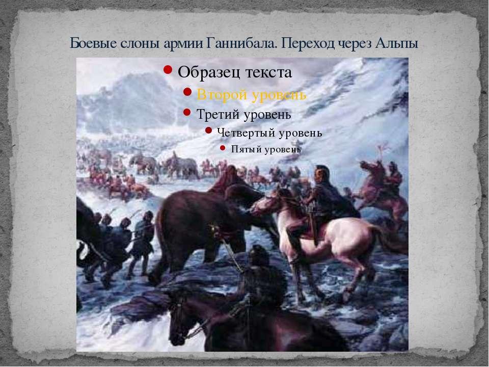 Боевые слоны армии Ганнибала. Переход через Альпы