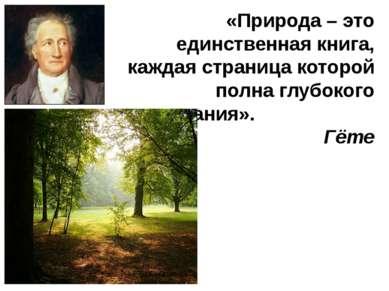 «Природа – это единственная книга, каждая страница которой полна глубокого со...