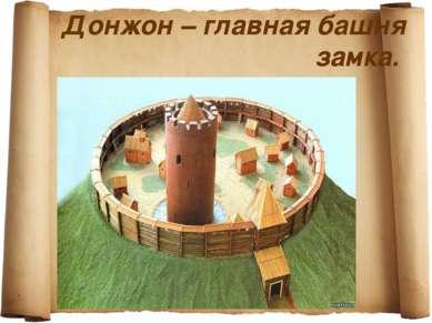 Донжон – главная башня замка.
