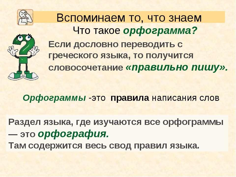 Что такое орфограмма? Орфограммы-это правиланаписания слов Раздел языка, г...
