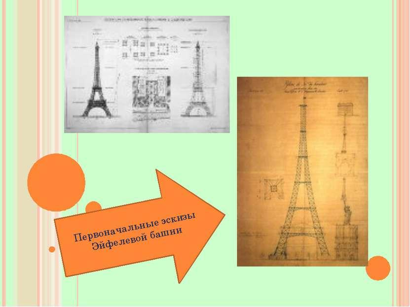 Первоначальные эскизы Эйфелевой башни