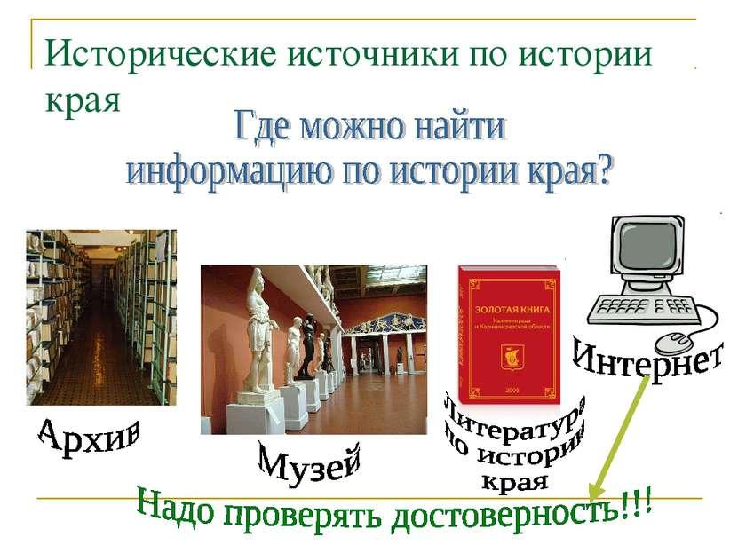 Исторические источники по истории края