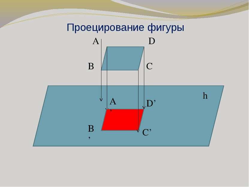 Проецирование фигуры A D B C A' B' C' D' h