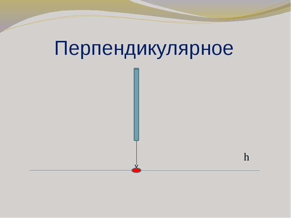 Перпендикулярное h
