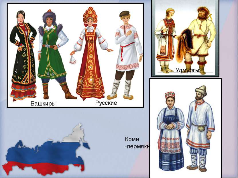 Башкиры Русские Удмурты Коми -пермяки