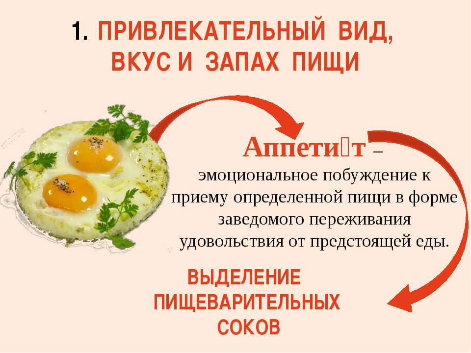 Аппети т – эмоциональное побуждение к приему определенной пищи в форме заведо...