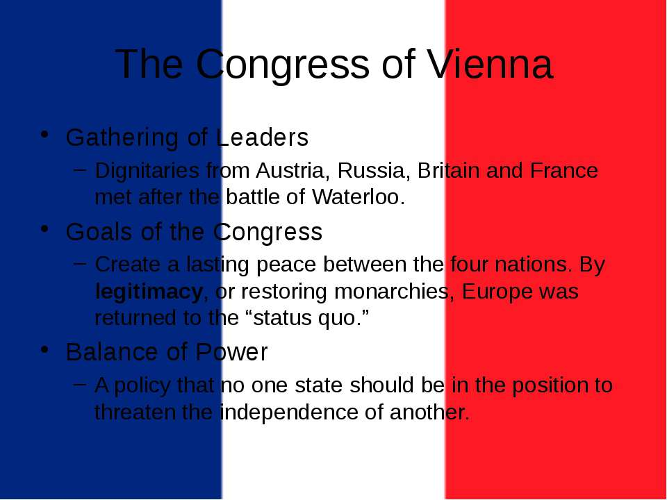 The Congress of Vienna Gathering of Leaders Dignitaries from Austria, Russia,...