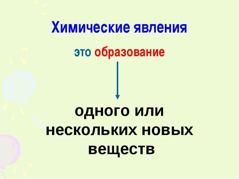 Химические явления это образование одного или нескольких новых веществ