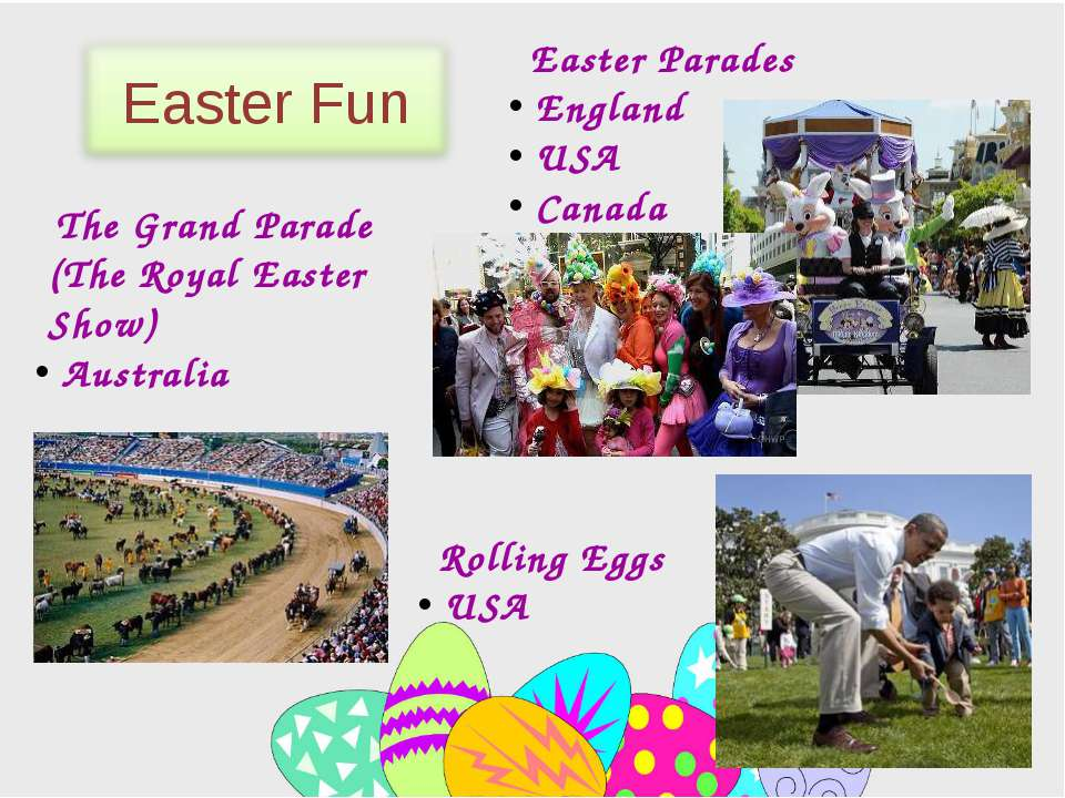 Easter Parades England USA Canada Rolling Eggs USA The Grand Parade (The Roya...