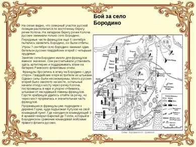 Бой за село Бородино На схеме видно, что северный участок русской позиции рас...