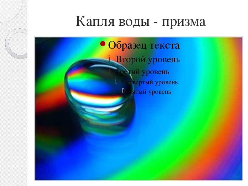 Капля воды - призма