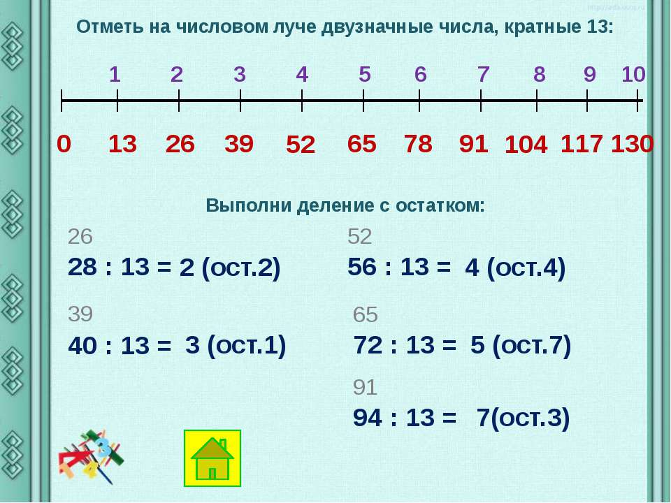 Отметь на числовом луче двузначные числа, кратные 15: 0 15 30 1 2 3 4 5 6 7 8...