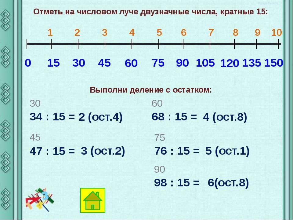 Отметь на числовом луче двузначные числа, кратные 17: 0 17 34 1 2 3 4 5 6 7 8...