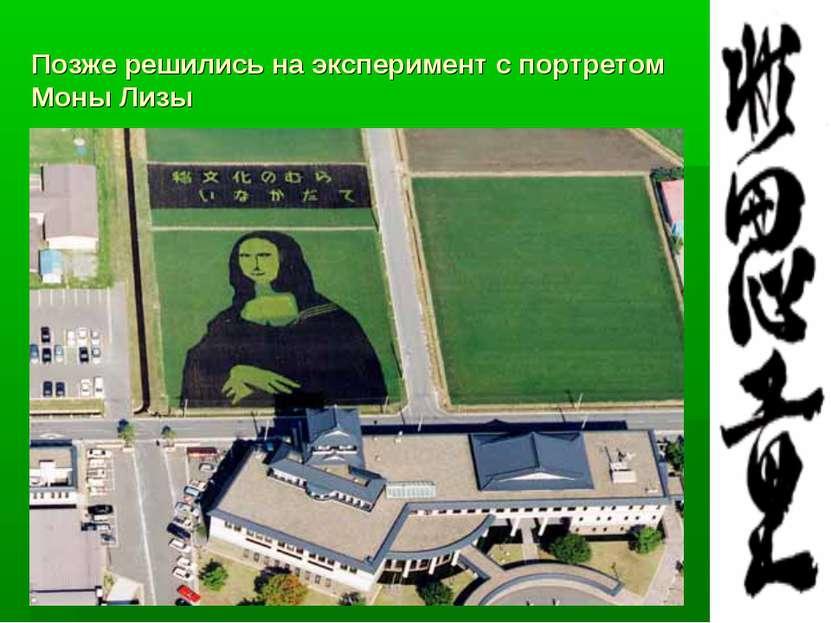 Позже решились на эксперимент с портретом Моны Лизы
