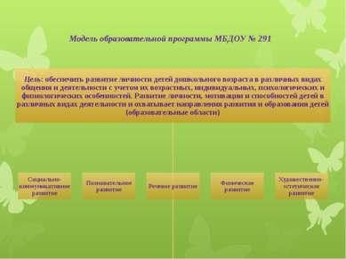 Модель образовательной программы МБДОУ № 291
