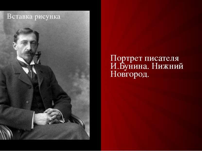 Портрет писателя И.Бунина. Нижний Новгород.