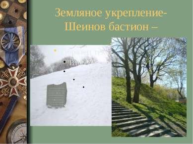 Земляное укрепление- Шеинов бастион – .