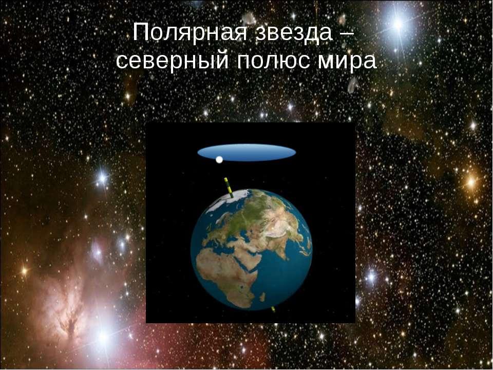 Полярная звезда – северный полюс мира