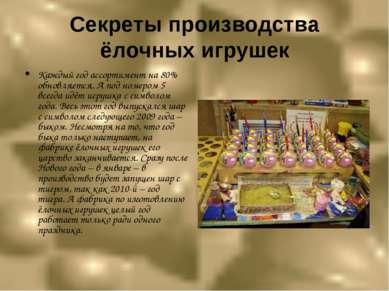Секреты производства ёлочных игрушек Каждый год ассортимент на 80% обновляетс...