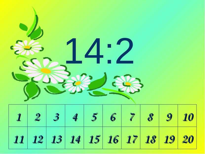 1 2 3 4 5 6 7 8 9 10 11 12 13 14 15 16 17 18 19 20 14:2