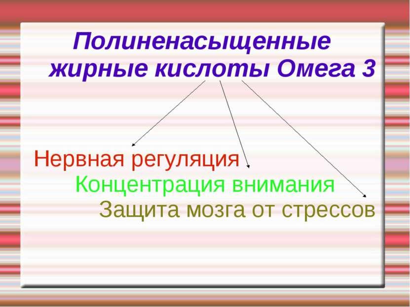 Полиненасыщенные жирные кислоты Омега 3 Нервная регуляция Концентрация вниман...