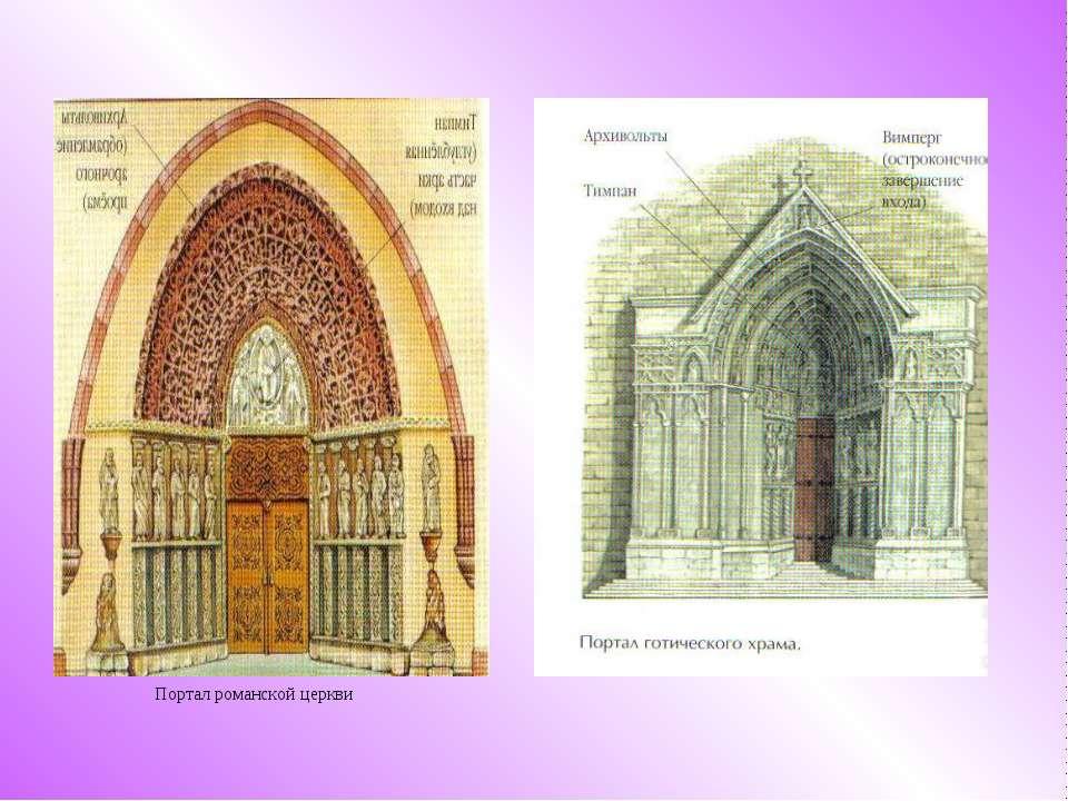 Портал романской церкви