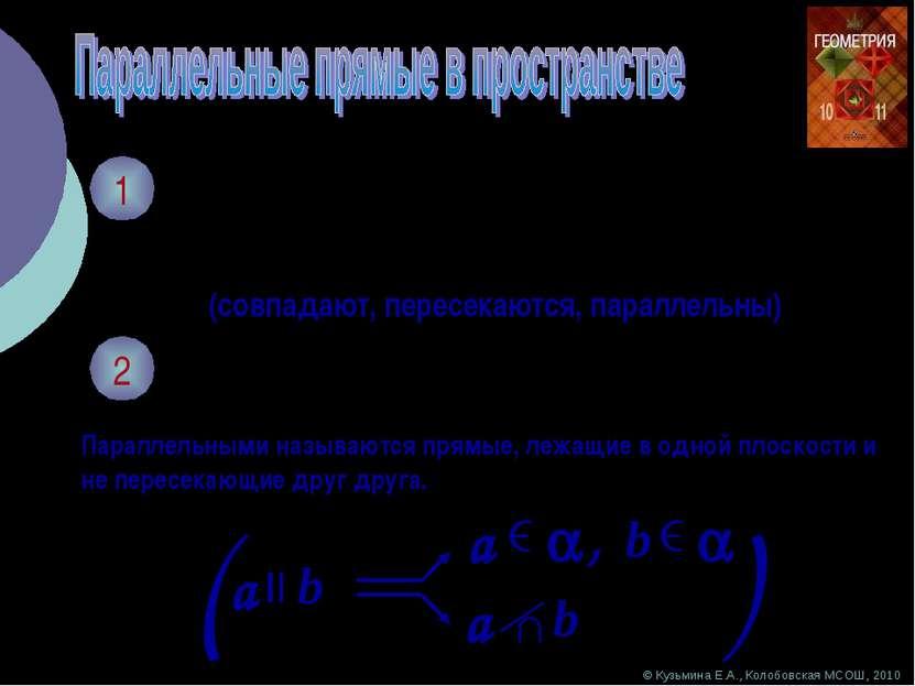1 Каково может быть взаимное расположение двух прямых на плоскости? (совпадаю...