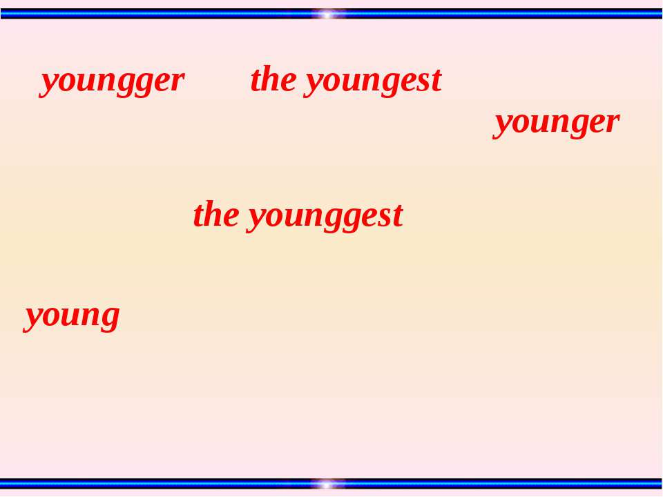 young the younggest the youngest youngger younger