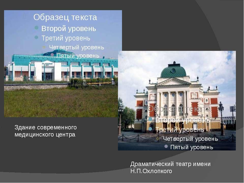 Здание современного медицинского центра Драматический театр имени Н.П.Охлопкого